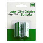 ASDA Smart Price AAA Batteries - 6 Pack