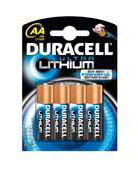 Duracell Lithium AA Batteries - 4 Pack