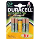Duracell Staycharged Rechargeable AAA Batteries - 4 Pack