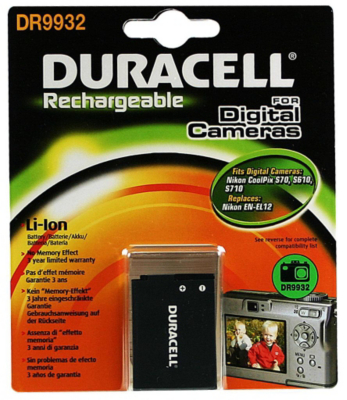 Duracell ENEL12 Rechargeable Digital Camera Battery 1 Pack