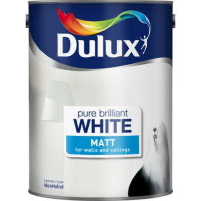 Matt Pure Brilliant White- 5L, Whites
