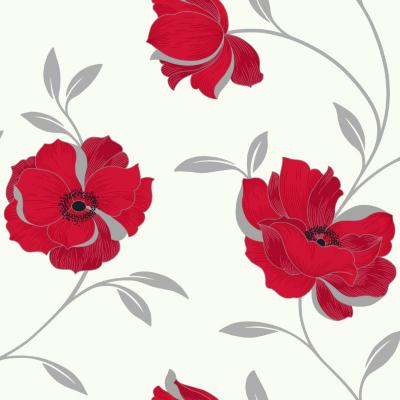 OPERA Sophia Red Motif Wallpaper, Red 614702