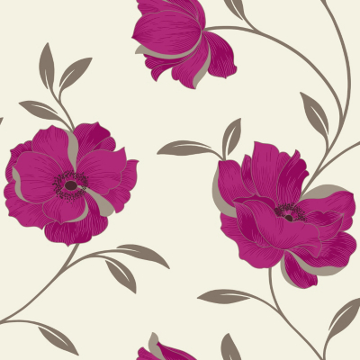 OPERA Sophia Berry Motif Wallpaper, Berry 614707