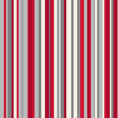 OPERA Sophia Stripe Red Wallpaper, Red 614802