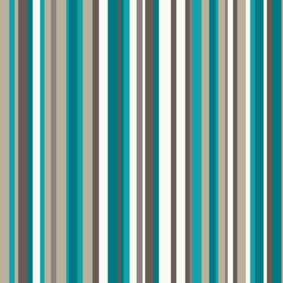 OPERA Sophia Stripe Teal Wallpaper, Teal 614804