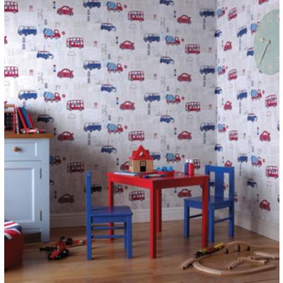 OPERA Motor Mania Wallpaper, Blue 533501