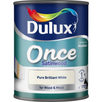 Once Satinwood Pure Brilliant White-