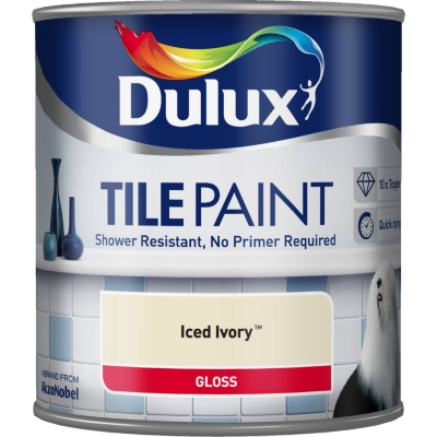 Tile Paint Iced Ivory - 600ml, Neutrals
