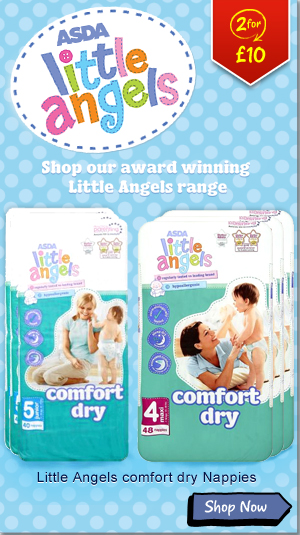 ASDA Little Angels Comfort Dry Junior Nappies - 40