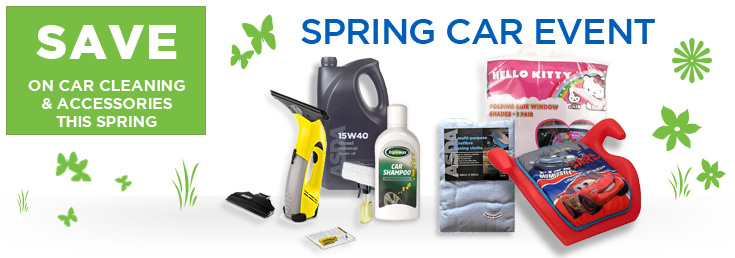 Save on Car Cleaning and Accessories This Spring