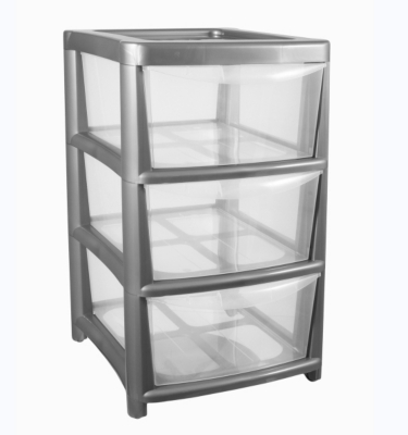 ASDA Silver 3 Drawer Storage Unit