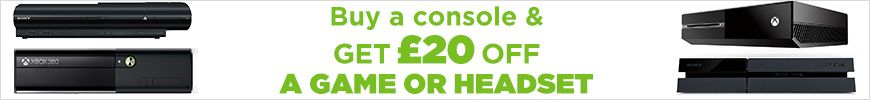 Buy a console and get £20 off a game or headset