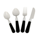 ASDA 16 Piece Black Handled Cutlery Set