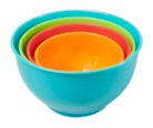 ASDA Plastic 4 Piece Mixing Bowl Set