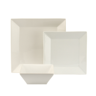 ASDA 12 Piece White Roma Square Dinner Set Review Compare Prices Buy Online