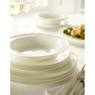 Elegant Living White Bone china 12 Piece Dinner Set