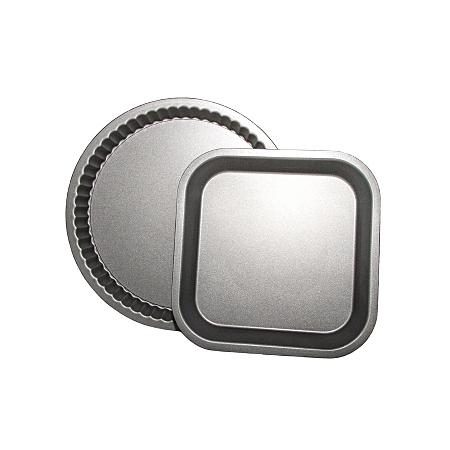 george home 2 pack non stick cake tins grey baking. Black Bedroom Furniture Sets. Home Design Ideas