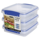 Sistema Klip It Sandwich Boxes Set of 3