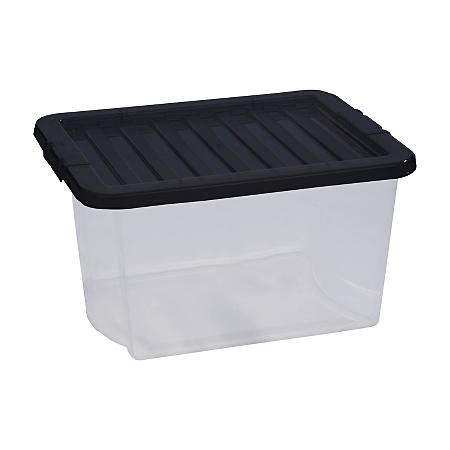 asda clear 30l storage box storage asda direct. Black Bedroom Furniture Sets. Home Design Ideas