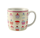 ASDA Cupcake Porcelain 4 Piece Mug Set