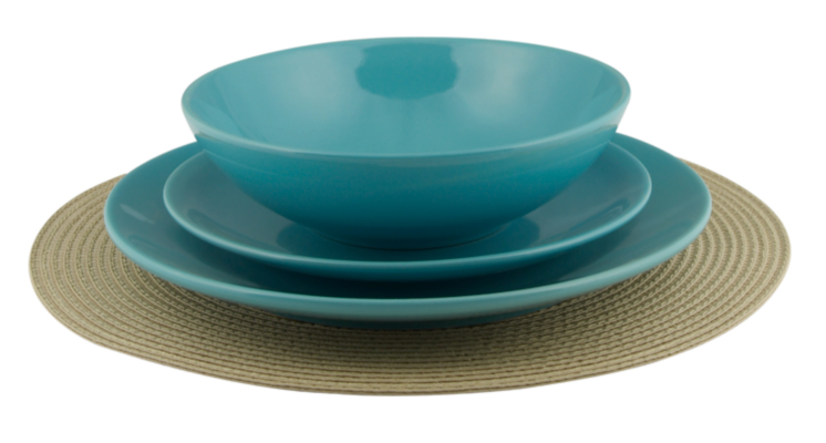 ASDA Aqua Glazed Stoneware 12 Piece Dinner Set Aqua