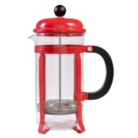 ASDA Red Stainless Steel 1 Litre Cafetiere