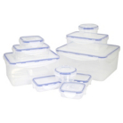 ASDA Clip Lid Storage Set -  10 piece