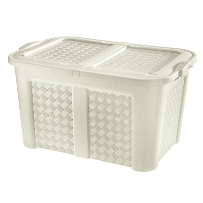 Tontarelli Cream Laundry Basket - 123L, Cream.