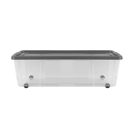 asda clear wheeled storage box 75l storage asda direct. Black Bedroom Furniture Sets. Home Design Ideas
