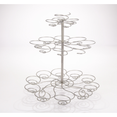 ASDA Cup Cake Stand, Silver