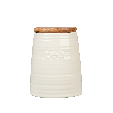 asda cream ceramic tea jar food storage asda direct. Black Bedroom Furniture Sets. Home Design Ideas