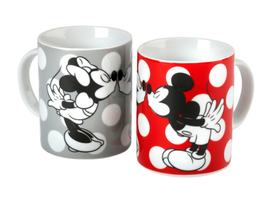 Disney Mickey And Minnie Mouse Mug Set  2 Pack