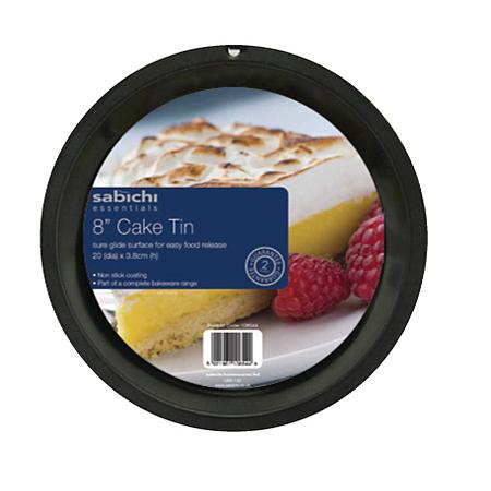 sabichi essentials 8 inch cake tin baking asda direct. Black Bedroom Furniture Sets. Home Design Ideas