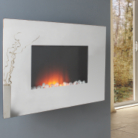 Katell Lisburn Wall Mounting Electric Fire with Mirrored Glass Fascia