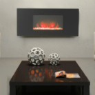 Katell Abbey Wall Mounting Electric Fire with Black Glass Fascia