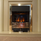 Royal Cozyfire Brass Fret Electric Fire Brass Trim