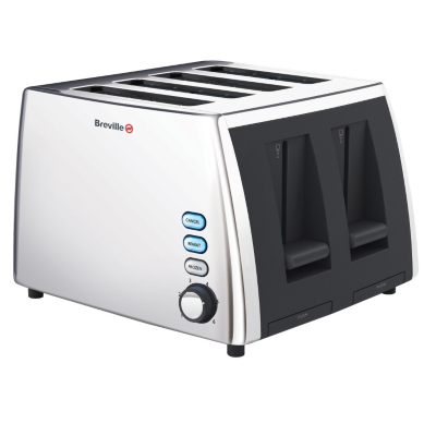 VTT273 4 Slice Polished Steel Toaster,