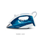 Bosch TDA3605GB 2400W Stainless Steel Soleplate Blue Steam Iron