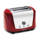 Morphy Richards 44266 Accents 2 Slice Red Polished Stainless Steel Toaster