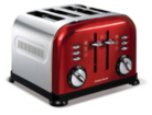 Morphy Richards 44732 Accents 4 Slice Red Stainless Steel Toaster