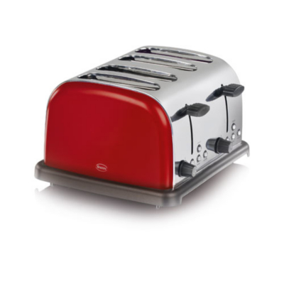 Swan ST14020RED 4 Slice Toaster - Red