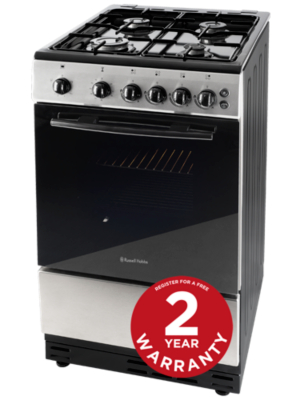 Russell Hobbs RHGC1SW Freestanding Single Cavity Gas Oven Stainless Steel