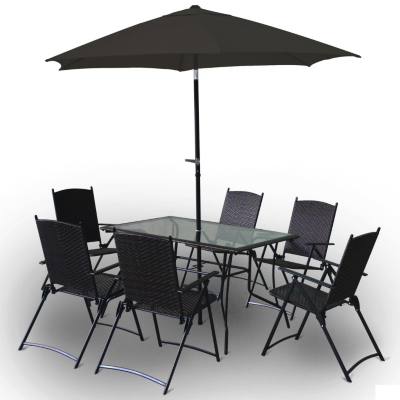 Asda directrattan patio furnituretable parasol customer for Outdoor furniture direct