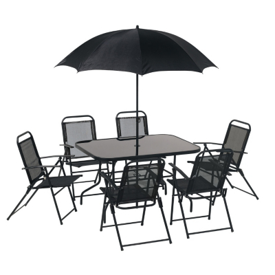 Contemporary Patio Furniture Clearance on Textolene Patio Furniture Table Parasol Modern Furniture Set With