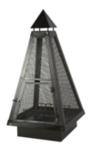 ASDA 100cm Pyramid Log Burner main view