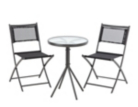 Cuba Balcony and Bistro Set 3 Piece