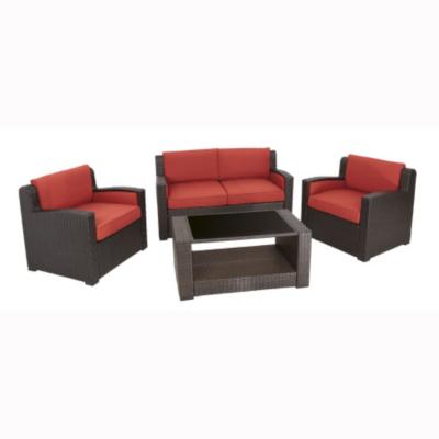Sheds & Garden Furniture Sumatra 4 Piece Conversation Patio Set - Ochre, Brown and Green