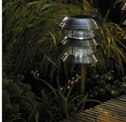Stainless Steel 3 Tier Light Lantern - 2 Pack