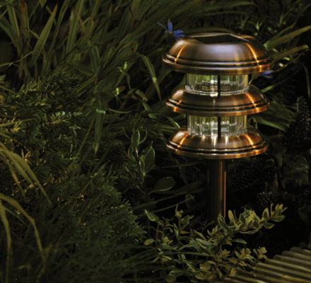 Copper Finish 3 Tier Light Lantern - 2 Pack