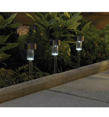 Value Gun Metal Finish Solar Light